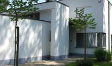Bepleister van een moderne villa